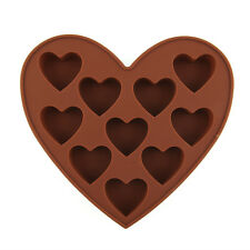 Love Shape Candy Silicone Chocolate Mold Heart Fondant Tray Bake mould ICE Cube