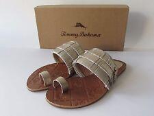 $98.00 Tommy Bahama Women's Gold Leather Fringe Toe Loop Sandals, size 7