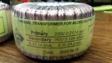 Toroidal transformer 50VA 230VAC,260V-0.12A,6.3V-1A,6.3V- 2A Weight 0.8kg