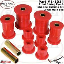 "Prothane 1-1014 Front Spring Eye & Shackle Bushing-2"" OD Main Eye for 74-91 Jeep"