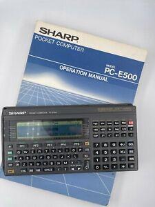 Vintage SHARP Pocket Computer MODEL PC-E500