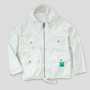 Nigel Cabourn Zip Army Smock Jacket Coat in Dirty White 48 (F)