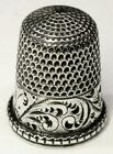 Antique Simons Bros Sterling Silver Thimble  Scrolling Ferns   T W  Mngm  C1880s