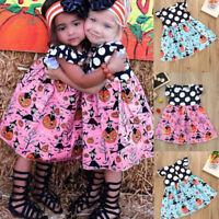 Halloween Toddler Kids Baby Girls Cartoon Princess Dress Outfits Clothes Dresses