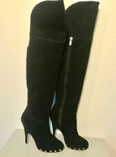 4a74ab1bb5d dolce vita DV SEXY Over Knee BLACK Suede Leather Womens BOOTS Heels Shoes  Size 7