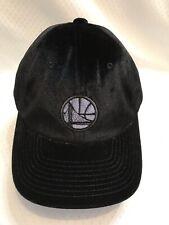 Golden State Warriors Black Suede Cap/Hat Adjustable Fit
