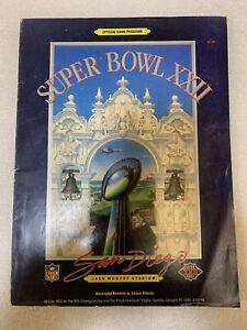Super Bowl XXII Official Game Program San Diego 1988