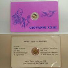 MEDAGLIETTA IN FOLDER GIOVANNI XXIII