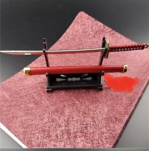 1/6 Scale Samurai Sword + Stand Ninja   Japan Alfrex Figure Accessories Red