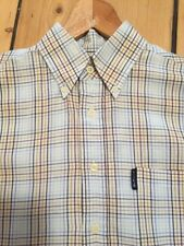 "Classics Men's Ben Sherman blue classic check short sleeved shirt small 42"" mod"