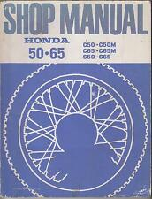 HONDA C50 C50M C65 C65M S50 & S65 ORIGINAL 1966 FACTORY WORKSHOP MANUAL