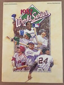 World Series 1987 Game Program Un-scored MINT Twins V Cardinals