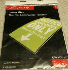 Swingline  UltraClear Thermal Laminating Pouches, Letter Size, 3 Mil, 25 Pack