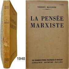 La Pensée marxiste 1948 Thierry Maulnier Karl Marx Lénine Engels marxisme