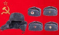UdSSR Ushanka Hut Größe 56 - 64 см, 7 - 8 US Original Rote Armee Sowjetunion Russische Mütze