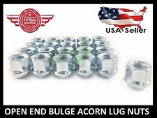 20 OPEN END BULGE ACORN LUG NUTS | 1/2X20 | FOR TJ YJ KK SK XJ TJ | CHROME LUGS
