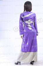 100% Latex  Rubber Gummi Rain Coat Nun Cross Catsuit Wear Uniform Burqa Robe Hat