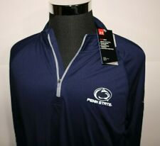 Under Armour Penn State Pullover Mens XL Blue 1/4 Zip Polyester Stretch New