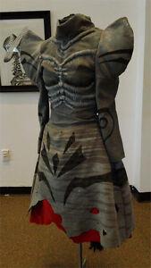 Alice in Wonderland American McGee Cheshire Dress Cosplay Costume Game