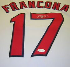 Terry Francona Cleveland Indians Autographed Signed 16x20 Jersey Swatch White JS