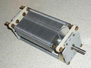 Variable air capacitor 1000pF 2KV transmitting 13.56MHz