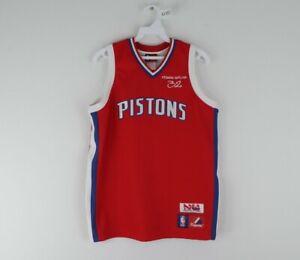 Vintage Majestic Youth 14/16 Detroit Pistons Richard Hamilton Basketball Jersey