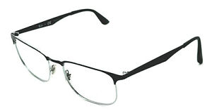 Ray Ban RB6363 2861 Black/Silver Square Eyeglasses Frame 54-18 145 ***Parts