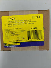 new, sealed Square D Sn03 neutral assembly / insulated, groundable Cu/Al