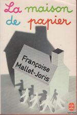 FRANCOISE MALLET-JORIS LA MAISON DE PAPIER poche