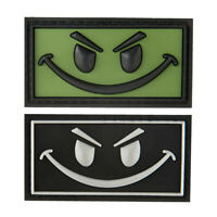 G-FORCE Evil Smiley Face Hook & Loop Airsoft Tactical PVC Morale Patch