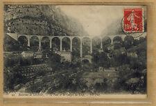 Cpa environs de Grasse - le pont et les gorges du Loup rp077