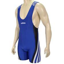 adidas adistar Wrestling Suit Ringeranzug Kampfanzug Trikot Singlet fila blau
