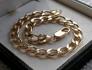 GORGEOUS 9CT GOLD FILLED CURB BRACELET SILLY PRICE from 9ct gold bling 15