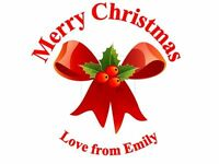 105 Personalised Christmas Stickers Xmas 3 for 2 Gift Labels party Seal Sticker