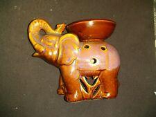"7"" by 5"" Ceramic Elephant Vase Candle Holder Brown"