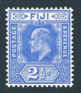 FIJI King Edward VII 1910 2½d. Bright Blue Wmk Mult Crown CA SG 120 MINT
