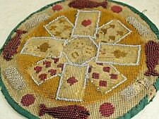 Very Old Beadwork Embroidery Playing Cards Possibly Prisoner Of War Work Rare
