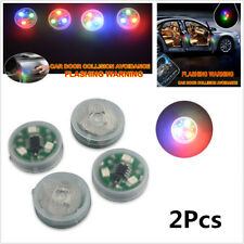 2Pcs Car Led Door Opened Flash Warning Signal Lights Wireless Avoid Crash Lamps (Fits: Neon)