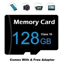128gb Micro SD Card Class 10 With Adapter TF SDHC For Smart Phones, Tablets Etc