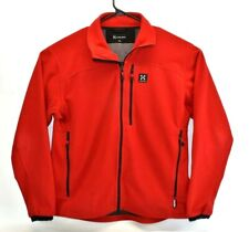Haglofs Men's Windstopper Soft Shell Full Zip Hiking Jacket Windbreaker XXL Red