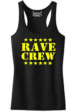 Junior's Neon Rave Crew Black Racerback Tank Top Music EDM Dance Party Rage V420