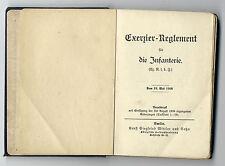 Exerzier Reglement Infanterie 1906 / 1909 zzgl Anhang und Register