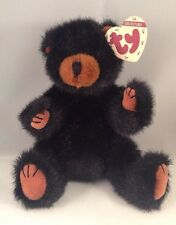 Ty Collectible 1993 Black Plush Teddy Bear Ivan, Jointed Arms and Legs, Retired