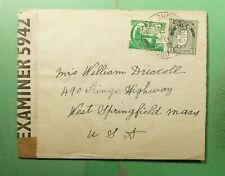 DR WHO 1944 IRELAND DROICHNEAGH TO USA WWII CENSORED  g40531