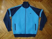 PUMA VLADO STENZEL blue 70s Handball Soccer track suit jacket shirt vintage 6 M