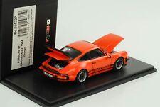 PORSCHE 911 CARRERA 3.2 1984 orange Openable Front Bonnet Rear Lid 1:43 Kyosho