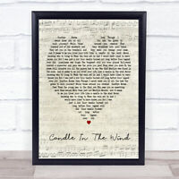 Candle In The Wind Script Heart Song Lyric Quote Print