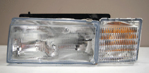 1992-1997 Cadillac Deville Seville Left LH Headlight W/Bulbs New Glass 16515659