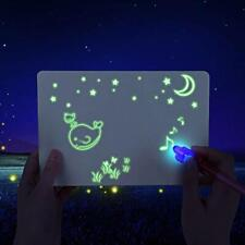 A5 Fluorescent Light Writing Pad Kids Drawing Painting Board Educational Toy US