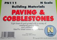 New Metcalfe PN111 Paving & Cobblestones Sheets N Gauge